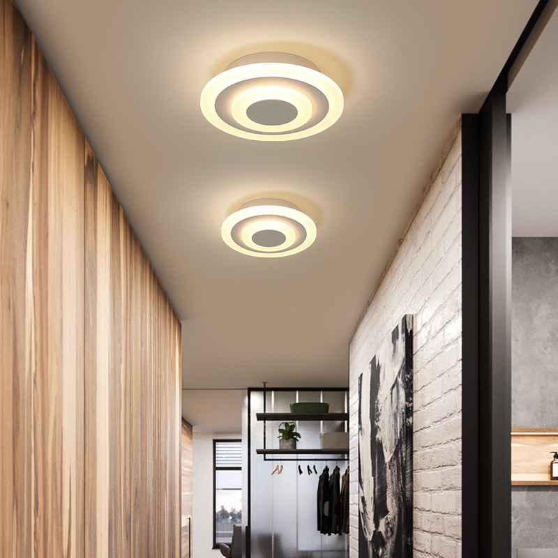 Acrylic Modern led ceiling lights for bedroom hobby balcony living room white or brown color home