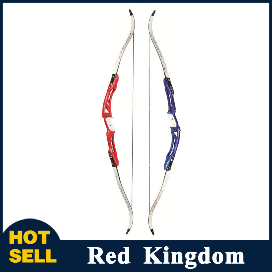 F165 Recurve Bow Length 68 Inches 18-32 Lbs in Red/Blue Aluminum Alloy Handle and Maple Limbs for Archery Hunting Shooting 60 hanks stallion violin horse hair 7 grams each hank 32 inches in length
