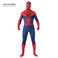 2018 Spider Men Costume Red Zentai Suit Cool Costumes Men Halloween Full Body Venom Spiderman Jumpsuit