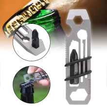 1PC Multi-function Bottle Opener Tiny Ratchet EDC Multi-Tool Key Chain 6 in 1 Keychain Keyring