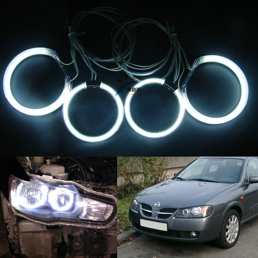 For nissan almera n16 2004 Excellent angel eyes Ultra bright illumination CCFL Angel Eyes kit ветровики prestige nissan almera classic sd 06