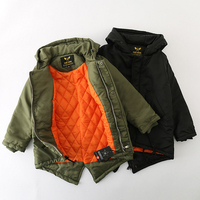 Family Matching Clothes Father and Son Coat Outfits Autumn Winter Baba Baby Kid ArmyGreen Coat Family Look