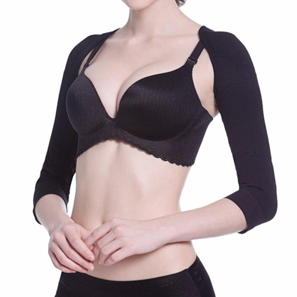 Upper Ladies Underwear Back Posture Women Arm Corrector Body Tool Slimming Shaper Humpback Prevent Shoulder Long Sleeve Elastic