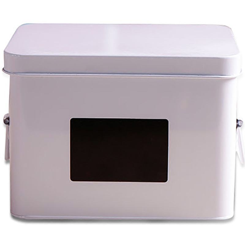 1Pcs Thicken Iron Art Classified Storage Box Pure White Tank Multi function Household Thicken Hi quality