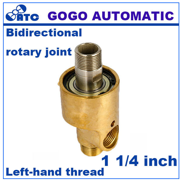 GOGO Two-way Left-hand thread high temperature steam rotating joint water rotary connector  sc 1 st  AliExpress.com & GOGO Two way Left hand thread high temperature steam rotating joint ...