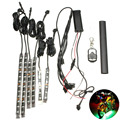 6PC RGB LED Universal 15 Color Motorcycle Glow Flexible LED Strip Light Lamp W/ Remote Controller
