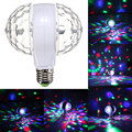 E27 Colorful Auto Rotating RGB LED Stage Light Crystal Magic Double Balls DJ Party Disco Bar KTV Effect Bulb Lamp 6W 110v 220v