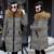 2017 Chaquetas de Invierno Las Mujeres Estilo Medio Con Capucha Abrigos de Gran Tamaño Ocasionales Adelgazan Cuello de Piel Gruesa Chaqueta Acolchada Mujer Outwear Caliente