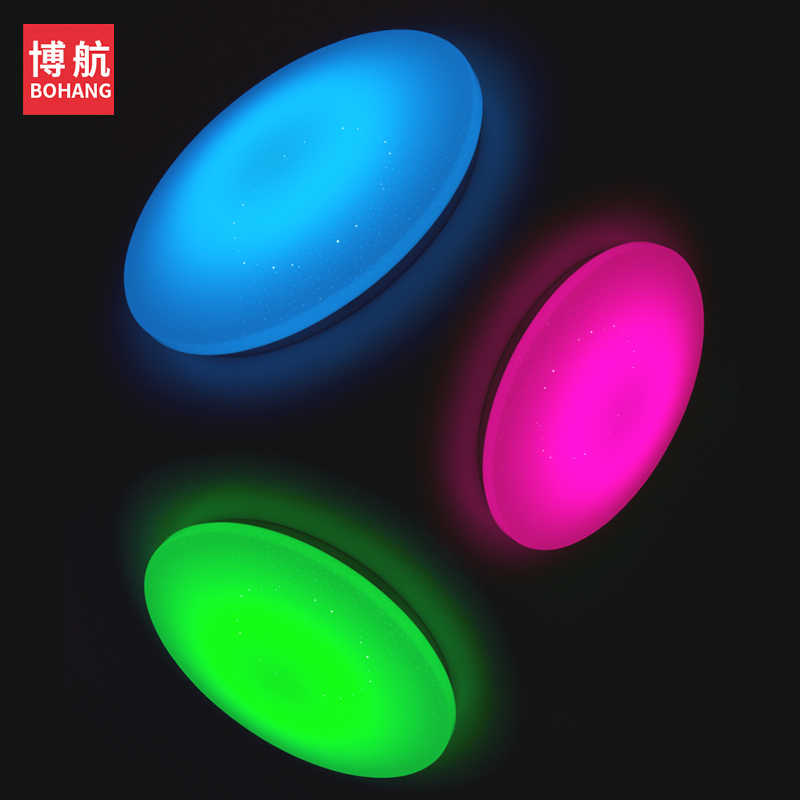 الحديثة LED ضوء السقف 25 W الذكية التحكم عن بعد RGB عكس الضوء تغيير لون مصباح ل معيشة نوم AC165-265V