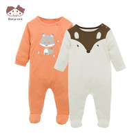 Brand New Fashion Baby Pajamas Sleepwear Baby Clothing Baby Boys Girls Clothes Rompers 100 Cotton 2
