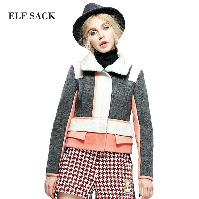 Elf saco inverno subiu berber fêmea fleece amassado moda jaqueta de algodão-acolchoado jacket