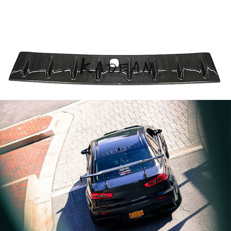 Carbon Fiber Shark Fin Roof Spoiler for Mitsubishi Lancer Evolution EVO 10 2008 2014