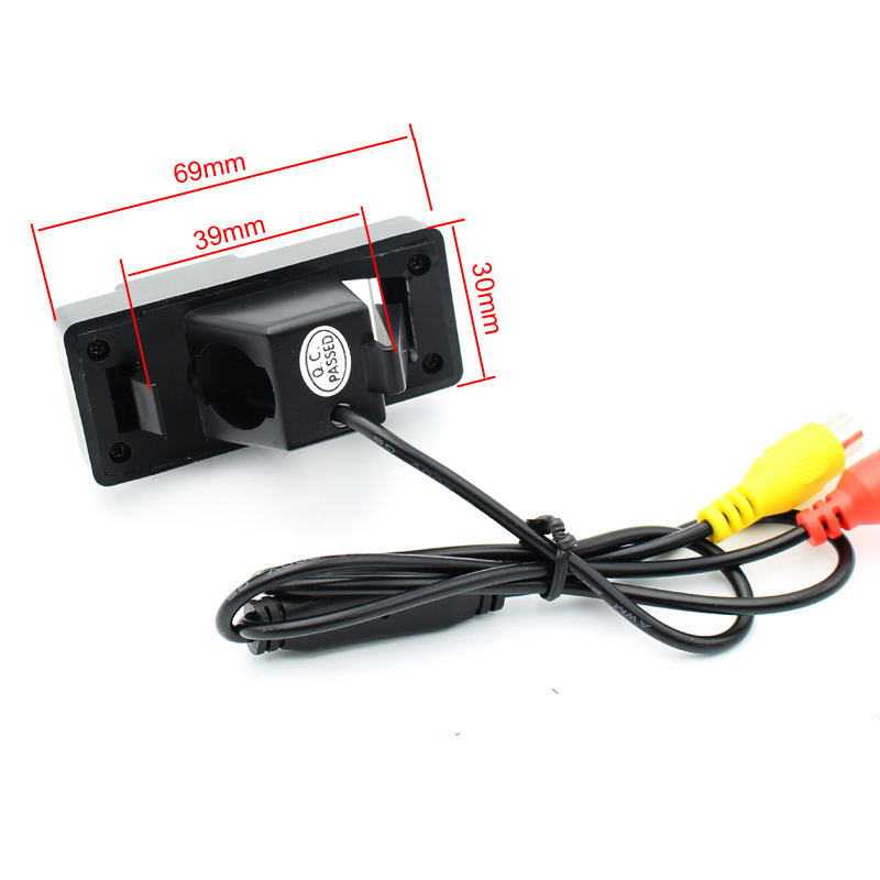 Free Shipping HD CCD Rearview Camera for Toyota Prado Land Cruiser Reiz 2008 Backup 170 Degrees Angle 3