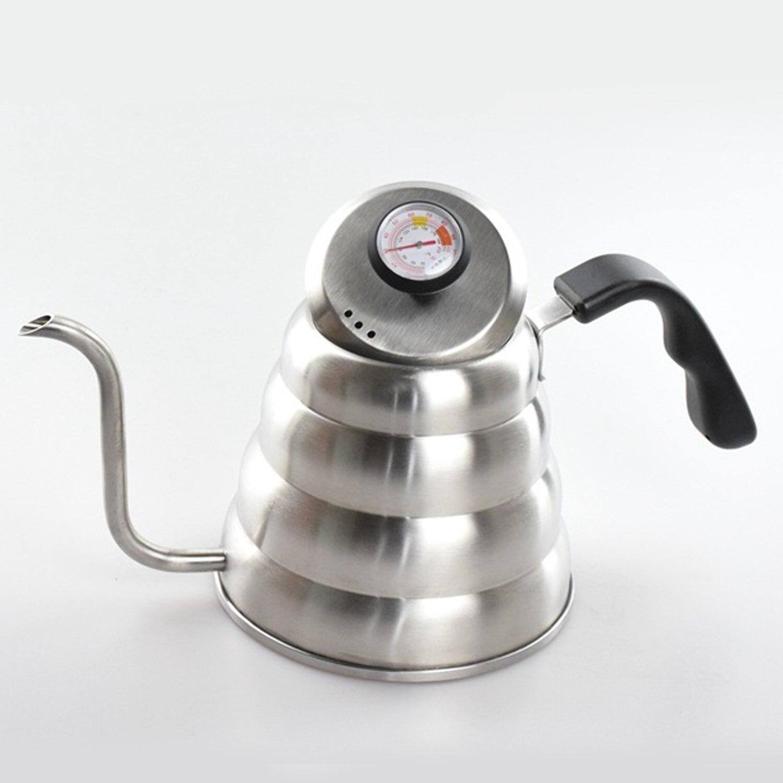 Behogar 1.2L acier inoxydable verser sur la bouilloire avec thermomètre Pour appartement de bureau à domicile
