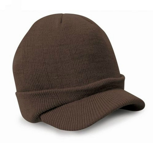 THINKTHENDO Stylish Men Warm Baggy Crochet Visor Brim Beanie Ski Cap Baggy  Oversized Knit Skull Hat feca094d6630