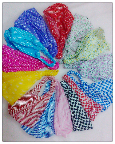 10PCS/Lot Cute Baby Floral Printing Cotton Headband Children Girl Flower Bandanas Headscarf Band 1-3 Year Kids Girls