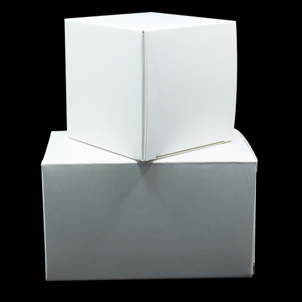 10*10*10cm White Cardboard Packaging Boxes [ 100 Piece Lot ] 3