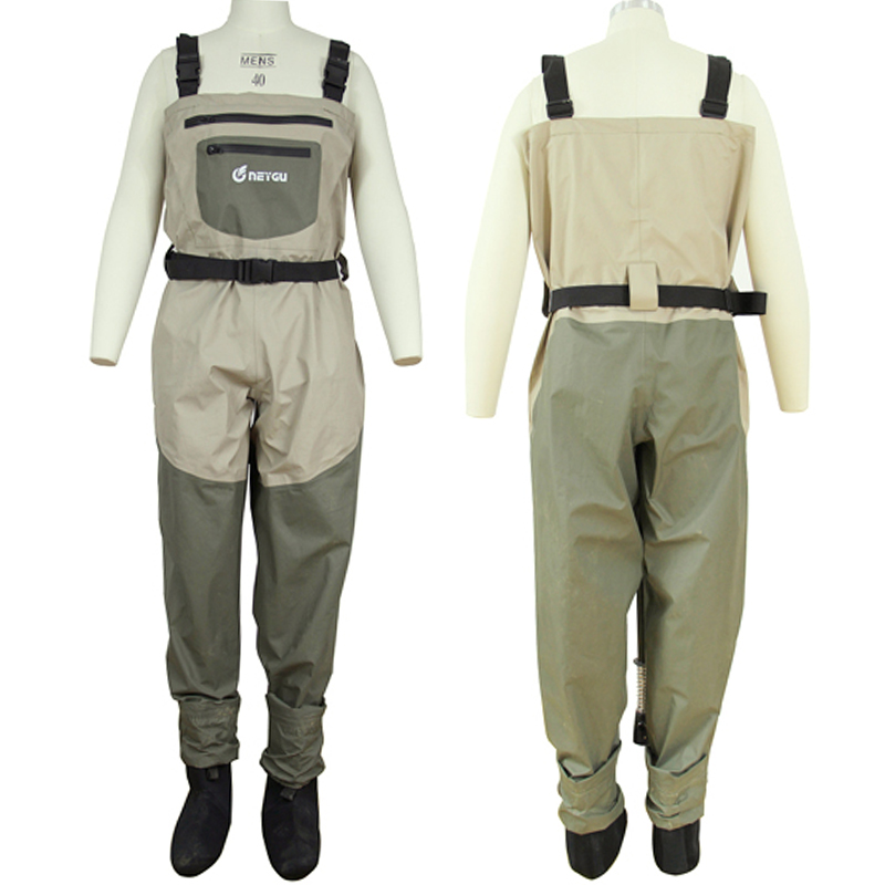 Breathable wader 100 waterproof wader fly fishing wader for Fly fishing waders