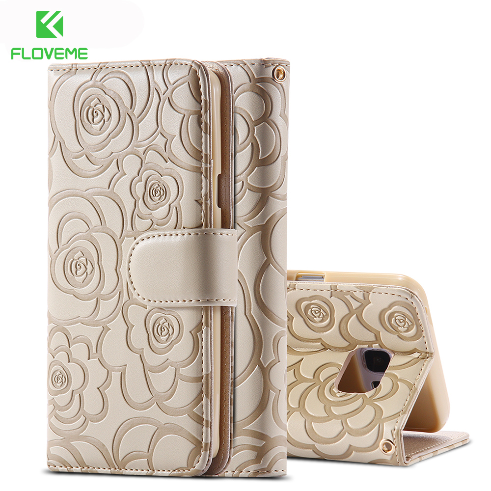 FLOVEME Mobile Phone Case For Galaxy Note 5 Women Wallet Leather Ultra Flip Cover Bags For Samsung Galaxy Note 5 Note 4 S6 Edge