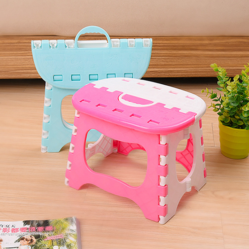 Pink/Blue Plastic Folding 6 Type Thicken Step Portable Child Stools Home Kitchen Bathroom Tool Mini Child Seat