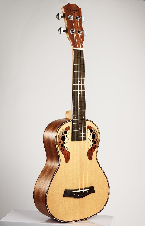 SevenAngel 26 pouces ténor ukulélé Ingrid épicéa Style raisin trou sonore 4 pique Mini guitare acoustique électrique Ukelele pick-up EQ - 2