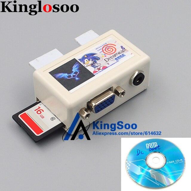 Para Sega Dreamcast Dc Adaptador De Tarjeta Sd Adaptador Con Vga Av