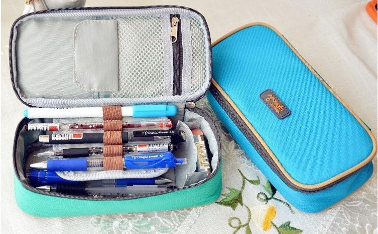 Korea Magic Channel Duża pojemność Wielofunkcyjne płócienne piórniki Duże skórzane torby na długopisy Pudełko dla chłopców Dziewczęta Artykuły szkolne