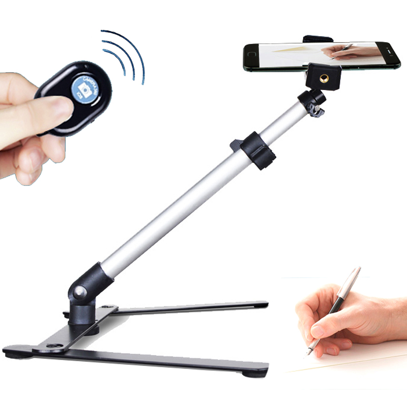 Universal desktop phone aerial shooting multi function recording video micro course photography video shelf stand holder suppord in Phone Holders Stands from Cellphones Telecommunications