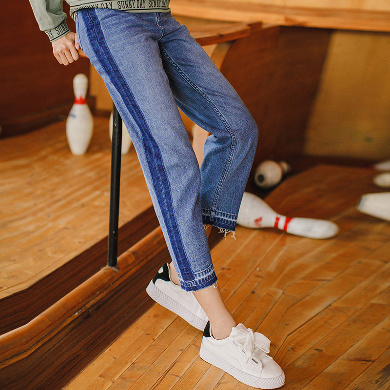 INMAN 2019 New Products Women Spring Clothes Fashion Denim Slim   Jeans