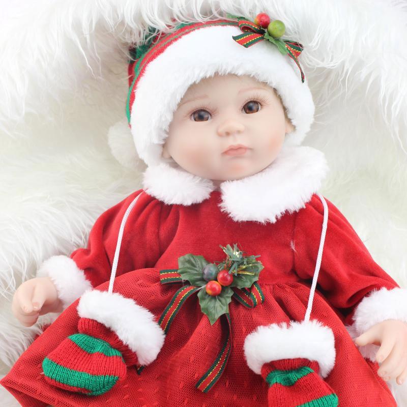 Fashion Doll 17inch Christmas Dolls Baby Reborn 42CM Silicone Reborn Dolls Adora Handmade Kids Children Bebe Reborn Bonecas чернильный картридж hp 10 c4844a black