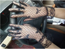 New Summer ladies nets short mesh sunscreen gloves Gothic Punk Emo Rock Costume Fancy Sexy Lace lace gloves