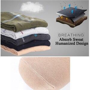 Image 3 - Calcetines de algodón para hombre, calcetín largo transpirable, colorido, suave, 5 par/lote