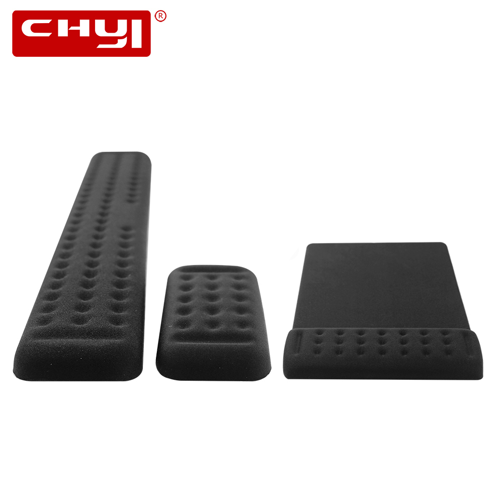 CHYI Porous Soft Memory Mouse Pad Ergonomic Natural Rubber Single Hand Wrist Rest Mat Keyboard Mousepad Kit For Laptop Desktop(China)