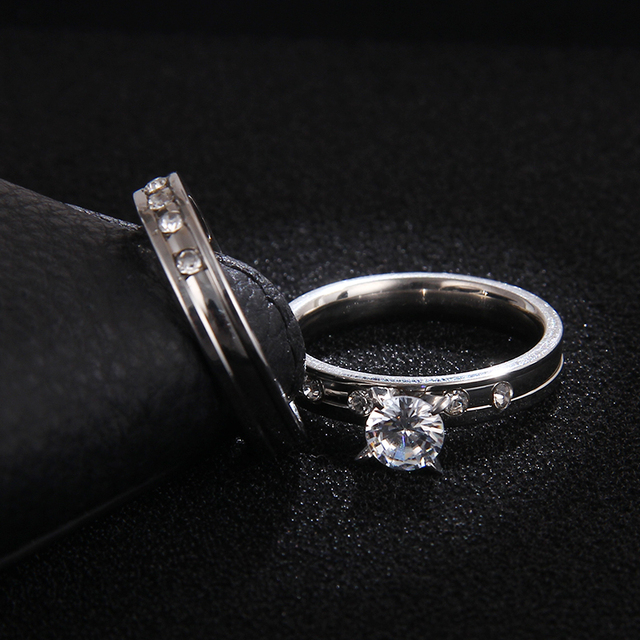 Couple's Stainless Steel Rings