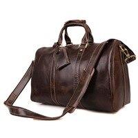 J. м. d Пояса из натуральной кожи Винтаж шоколад огромный Чемодан сумка Огромный Для мужчин Дорожные сумки # 7077c
