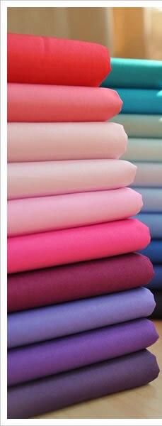 Yy diy 140x50 cm 10 unids bundle color sólido rosa púrpura tela del remiendo del