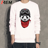 REM Animal Shark Brand Hoodies Men FLY Panda Cotton Gasp Fitness Casual Sweatshirts