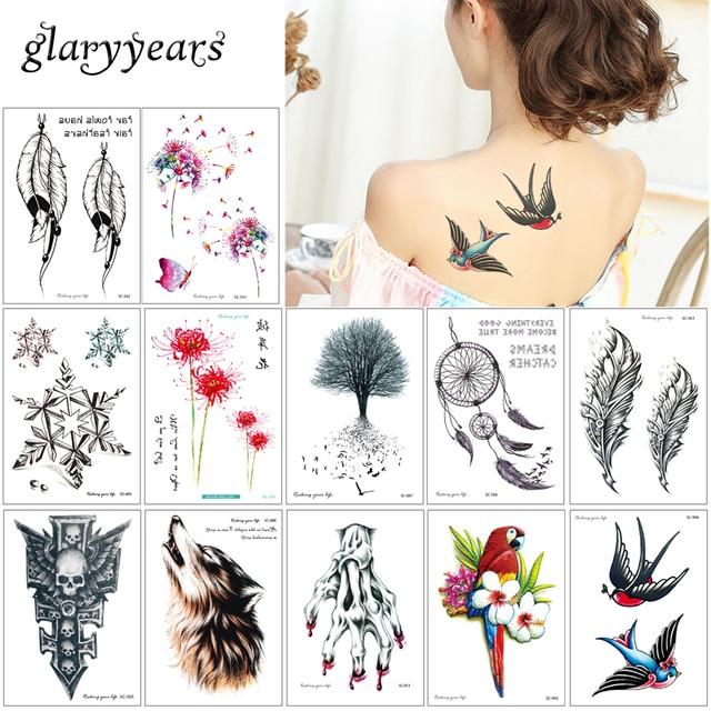 Glaryyears 5 Pieces Lot Temporary Body Tattoo Sc Beauty Design
