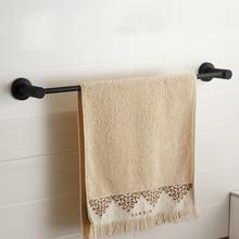Дизайн современный 304 из нержавеющей стали матовый полотенце бар вешалка для полотенец Европейский черный простой ПОЛОТЕНЦЕДЕРЖАТЕЛЬ для ванной комнаты продукты L366