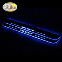 4PCS Acrylic Moving LED Welcome Pedal Car Scuff Plate Pedal Door Sill Pathway Light For Hyundai Accent I25 2012 2013 2014 2015
