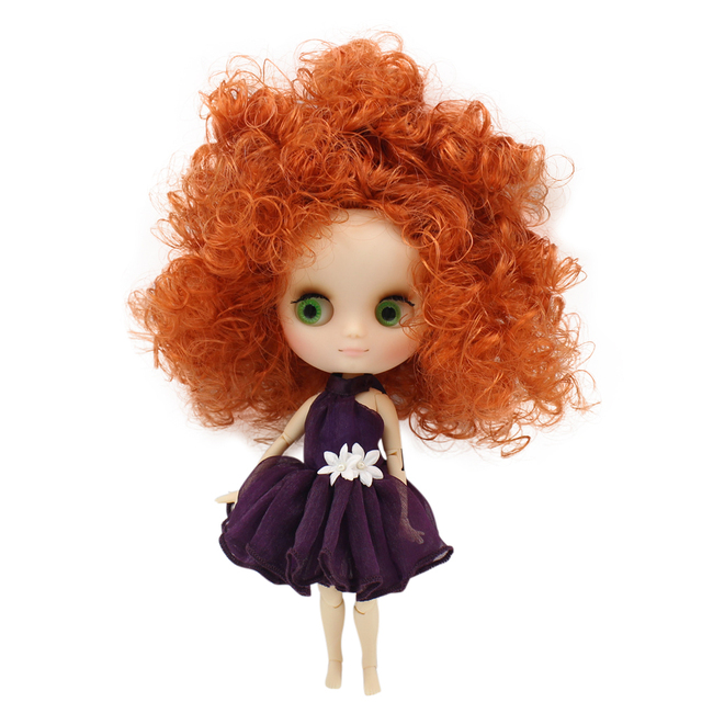 Middie matte face Joint body 1/8 blyth 20cm high nude doll Afro hair with gestures No.2231/2237 free shipping