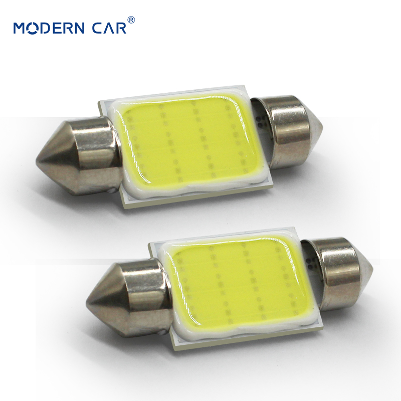 MODERN CAR 2pcs c5w Cob Led Festoon Light Bulb 31mm 36mm 39mm 41mm c3w c10w For Auto Reding Lights Interior Dome Light Lamp 12v (1)