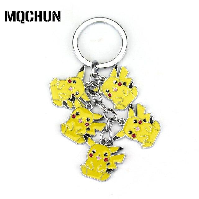 Pokemon Jewelry Cute Pikachu Pokemon Keychain Raichu Shaymin Eevee
