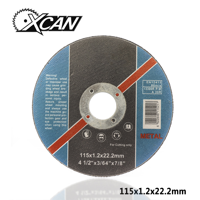 XCAN 1pc Diameter 115mm Stainless Steel Resin Cutting Discs For Metal Cutting Grinding Wheel Angle Grinder Power Tools