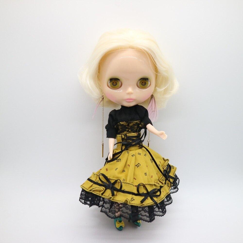 20180115 nue Blyth poupée jaune cheveux usine poupée de mode poupée adapté pour bricolage changement BJD jouet pour les filles-in Poupées from Jeux et loisirs    2