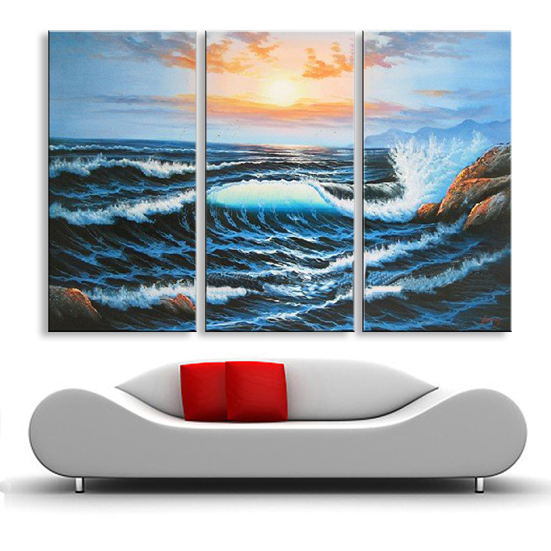 Hand Painted oil painting on canvas modern Best Art Seascape oil painting SE 050