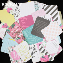 KSCRAFT 40pcs Double-side Printed Colorful Cardstock Die Cuts for Scrapbooking Happy Planner/Card Making/Journaling Project