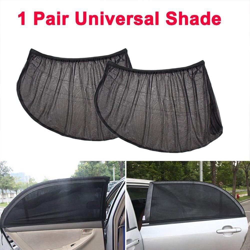 Vehemo 2PCS Auto Car Side Rear Window Sun Shade Sunshade Mesh Car Window Cover Visor Shield Sunshade Car Curtain UV Protection
