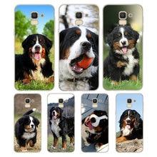 Silicone Phone Case Fashion Bernese Mountain Dog for Samsung Galaxy j8 j7 j6 j5 j4 j3 Plus Prime 2018 2017 2016 Matte Cover