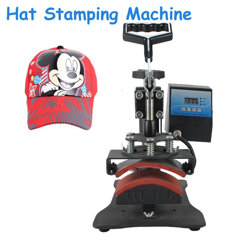 DIY Hat Printing Machine 8cm*15cm Cap Heat Press Machine For Hat Digital Grilled Caps Push-Pull Thermal Transfer Machine